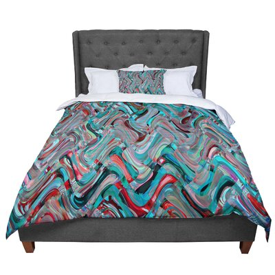 Suzanne Carter Abstract Wave Abstract Comforter Size: Queen