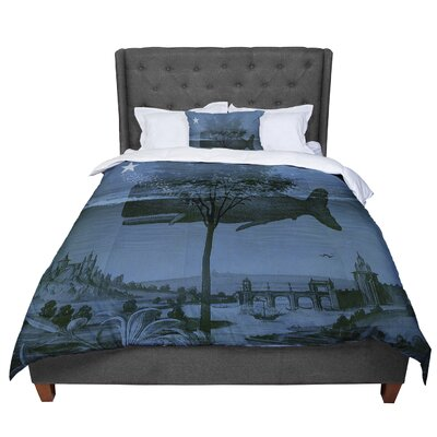 Suzanne Carter Whale Watch Illustration Comforter Size: Twin