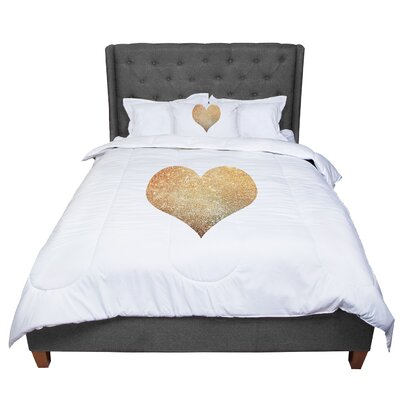 Suzanne Carter Heart Glam Comforter Size: Twin