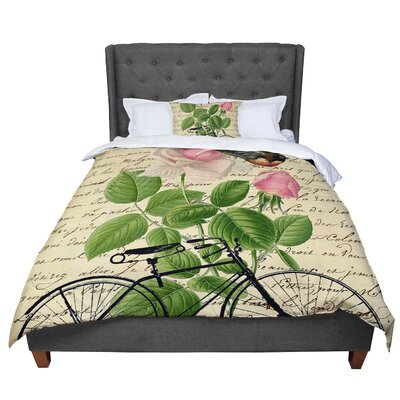 Suzanne Carter Vintage Cycle Floral Comforter Size: Queen