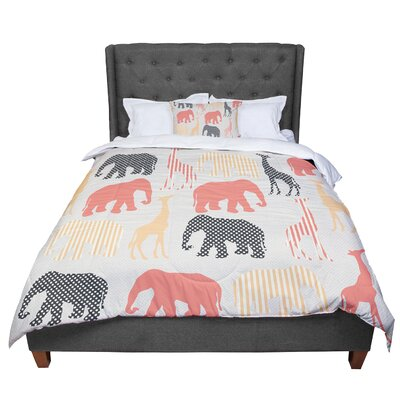 Suzanne Carter Zoo Beige Coral Comforter Size: Twin