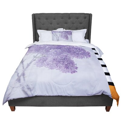 Suzanne Harford Lilacs Floral Comforter Size: King