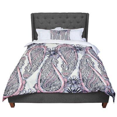 Sonal Nathwani Inky Paisley Bloom Comforter Size: Twin