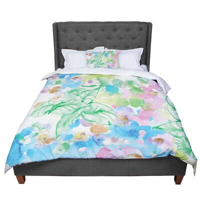 Sonal Nathwani Leaf Bouquet Comforter Size: King