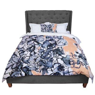 Sonal Nathwani Inky Bouquet Comforter Size: Queen