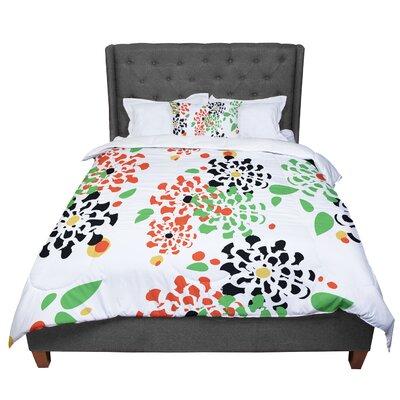 Sonal Nathwani Multi Bouquet Comforter Size: King