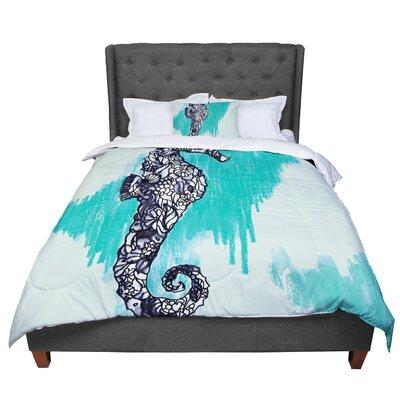 Sonal Nathwani Seahorse Comforter Size: King