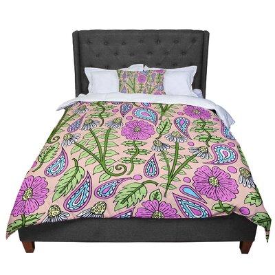 Sarah Oelerich Floral Paisley Comforter Size: Queen