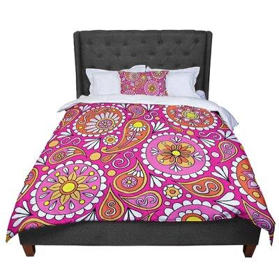 Sarah Oelerich Paisley Pop Comforter Size: Queen