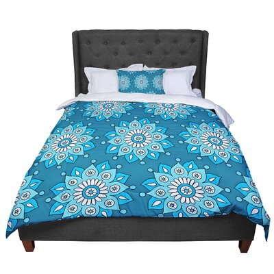 Sarah Oelerich Flower Burst Comforter Size: King