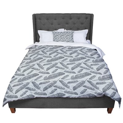Sam Posnick Feather Scene Comforter Size: King