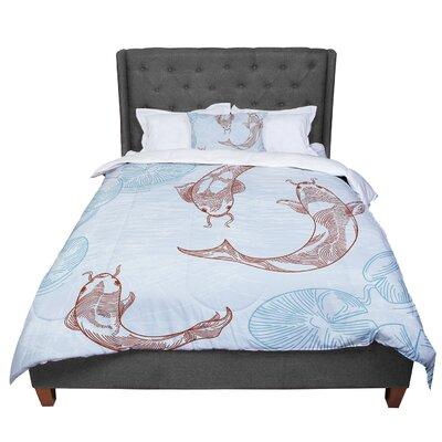 Sam Posnick Koi Comforter Size: Queen