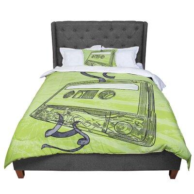 Sam Posnick Mixtape Comforter Size: Queen