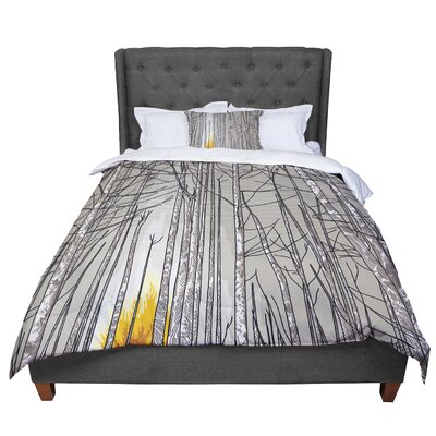 Sam Posnick Smokey Forest Fire Comforter Size: King