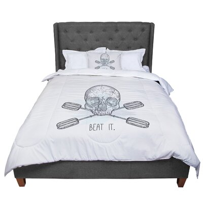 Sam Posnick Beat It Illustration Comforter Size: King