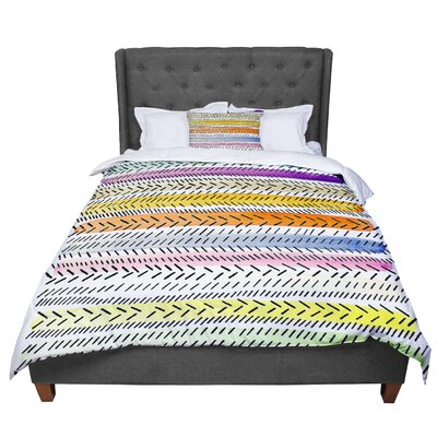 Sreetama Ray Dash 3 Dashed Paint Comforter Size: Twin