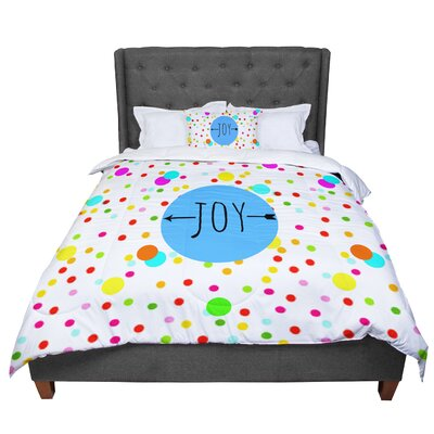 Sreetama Ray Oh Joy Rainbow Comforter Size: Twin