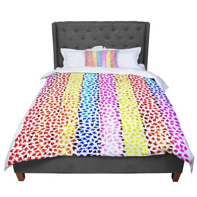 Sreetama Ray Rainbow Arrows Comforter Size: King