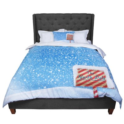 Snap Studio North Pole Snow Comforter Size: Queen