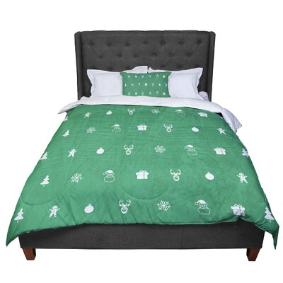 Snap Studio Cheery Pattern Comforter Size: Twin, Color: Green/Mint