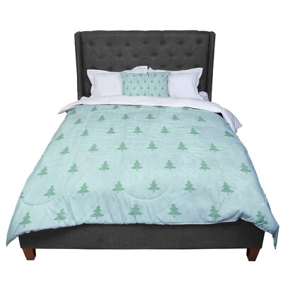 Snap Studio Pine Pattern Comforter Size: Twin, Color: Green/Teal