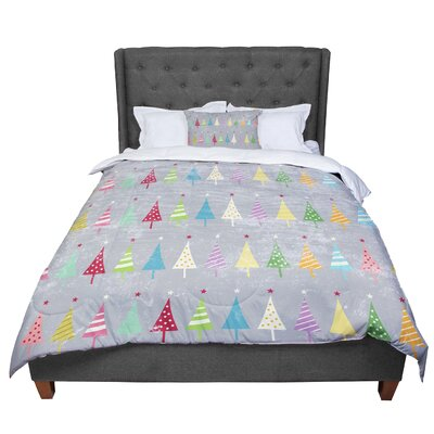 Snap Studio Crazy Trees Frost Comforter Size: King