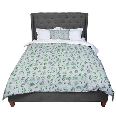 Snap Studio Miniature Christmas Comforter Size: Queen, Color: Gray/Green