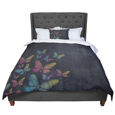 Snap Studio Butterflies Chalk Comforter Size: King