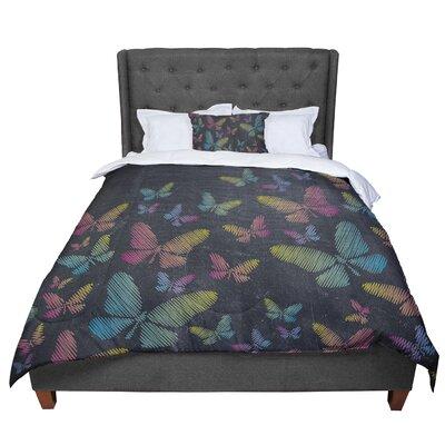 Snap Studio Butterflies II Chalk Comforter Size: Queen