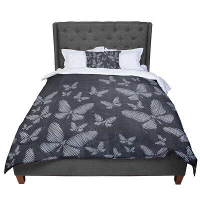 Snap Studio Butterflies III Chalk Comforter Size: King