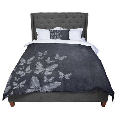 Snap Studio Butterflies IV Chalk Comforter Size: King
