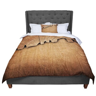Susan Sanders Natural Wood Comforter Size: King