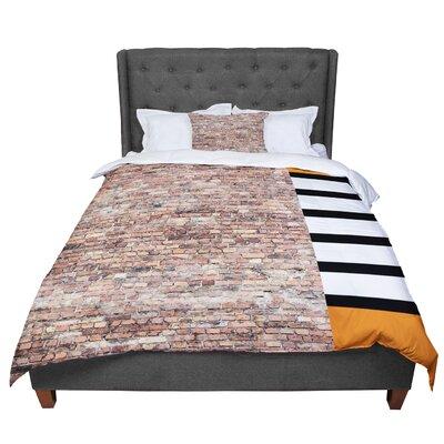 Susan Sanders Rustic Bricks Comforter Size: Queen
