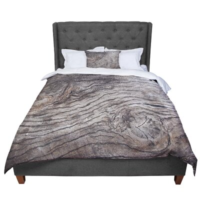Susan Sanders Tree Bark Wooden Comforter Size: King