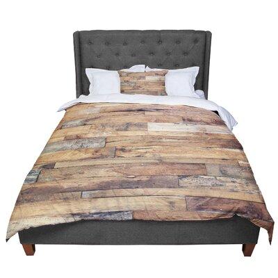 Susan Sanders Campfire Wood Rustic Comforter Size: King