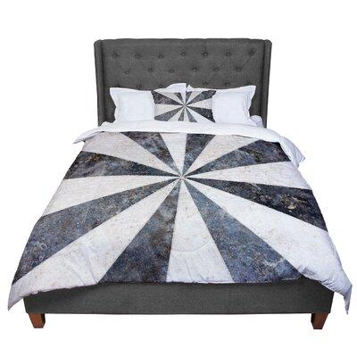 Susan Sanders Stripe Love Comforter Size: Queen