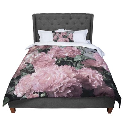 Susan Sanders Blush Flowers Floral Photography Comforter Size: Queen