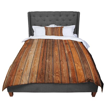 Susan Sanders Rustic Wood Wall Nature Comforter Size: King