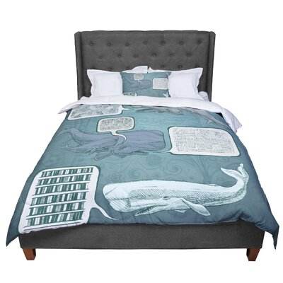 Sophy Tuttle Whale Talk Comforter Size: Queen
