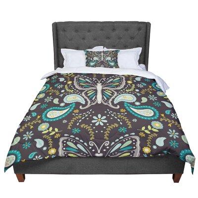 Suzie Tremel Butterfly Garden Comforter Size: Queen
