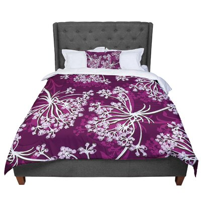 Suzie Tremel Squiggly Floral Comforter Size: Queen