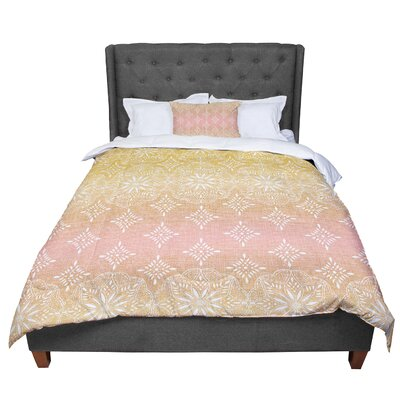 Suzie Tremel Medallion Ombre Comforter Size: King, Color: Beige