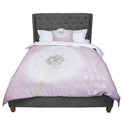 Susannah Tucker It Will Come True Flower Comforter Size: King