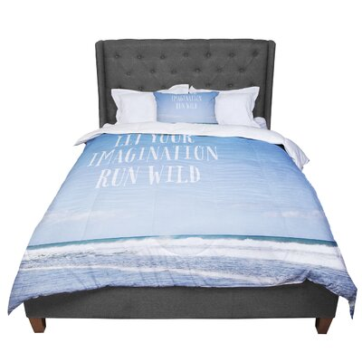 Susannah Tucker Let Your Imagination Run Wild Ocean Comforter Size: King
