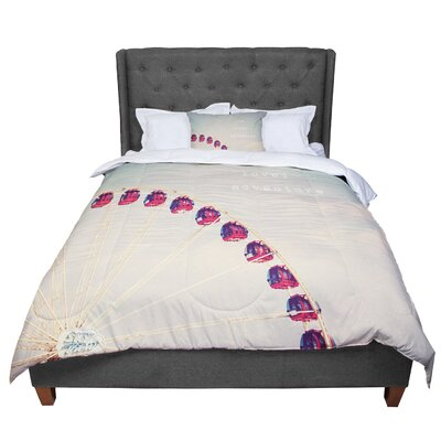 Susannah Tucker She Loved Adventure Ferris Wheel Comforter Size: Queen