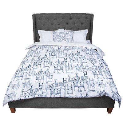 Stephanie Vaeth Tables and Chairs Abstract Comforter Size: Queen