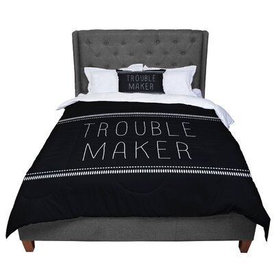 Skye Zambrana Trouble Maker Comforter Size: Twin