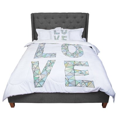 Skye Zambrana Four Letter Word Comforter Size: Queen