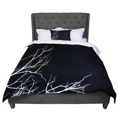 Skye Zambrana Winter Comforter Size: Twin, Color: Black