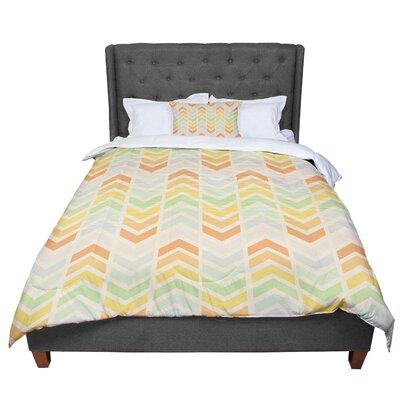 Skye Zambrana Infinity Chevron Comforter Size: Queen
